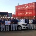 VW - El Centro Industrial Cordoba realizo el primer envio de transmisiones MQ 250 a la Planta de Poznan en Polonia