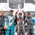 WTCR - Nurburgring - Alemania 2018 - Carrera 2 - Pepe Oriola - Esteban Guerrieri - Frederic Vervisch en el Podio