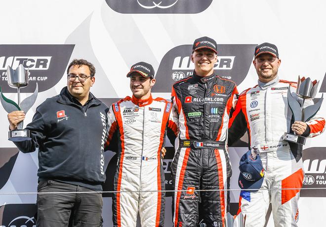 WTCR - Zandvoort - Holanda 2018 - Carrera 1 - Aurelien Comte - Yann Ehrlacher - Rob Huff en el Podio
