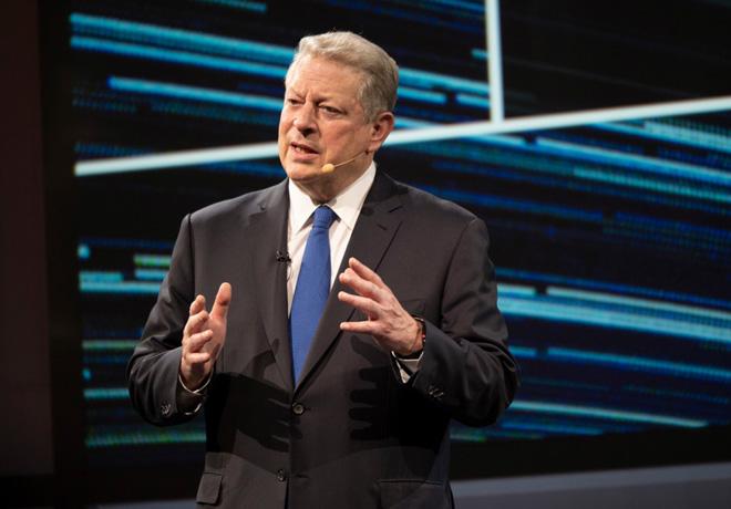 Al Gore en la segunda edicion del Foro de Transporte Sustentable de Scania