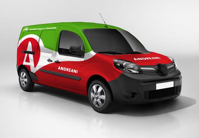 Andreani incorpora vehiculos 100 por ciento electricos a su flota