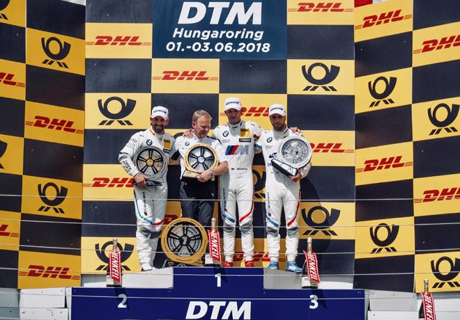 DTM - Hungaroring 2018 - Carrera 2 - Timo Glock - Marco Wittmann - Philipp Eng en el Podio