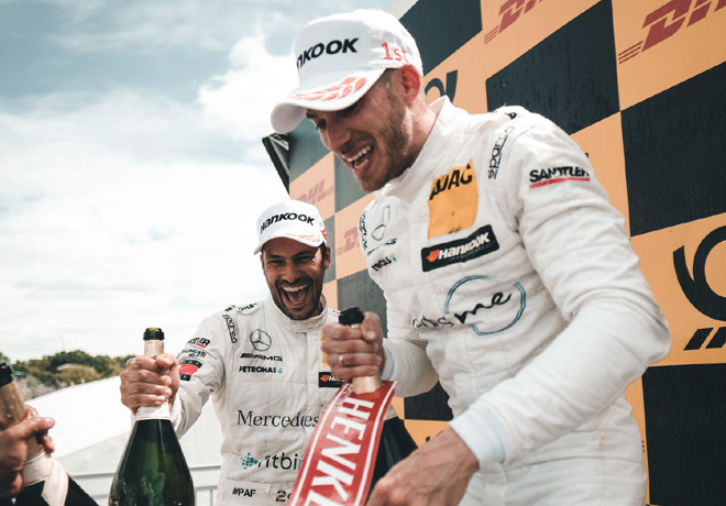 DTM - Norisring 2018 - Carrera 1 - Gary Paffett y Edoardo Mortara en el Podio
