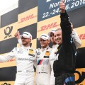DTM - Norisring 2018 - Carrera 2 - Edoardo Mortara - Marco Wittmann - Daniel Juncadella en el Podio