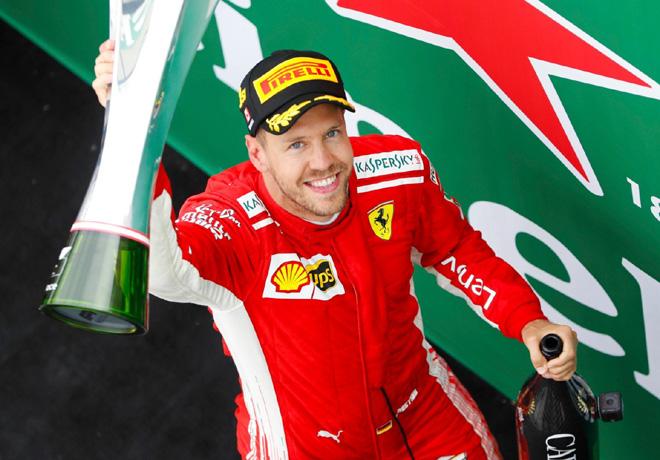 F1 - Canada 2018 - Carrera - Sebastian Vettel en el Podio