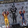 IndyCar - Road America 2018 - Carrera - Ryan Hunter-Reay - Josef Newgardenen - Scott Dixon en el Podio