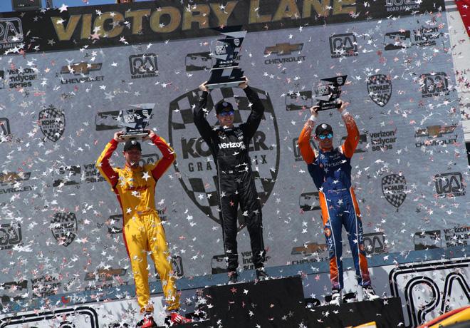 IndyCar Series en Road America – Carrera: Tercera victoria de la temporada para el campeón Newgarden.