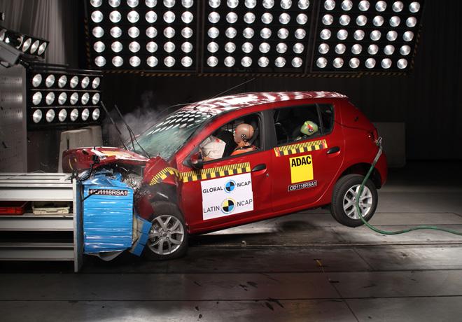 Latin NCAP - Renault Sandero-Logan - con 2 Airbags