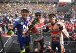 MotoGP - Catalunya 2018 - Valentino Rossi - Jorge Lorenzo - Marc Marquez en el Podio