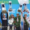 WEC - 24 hs de Le Mans 2018 - Jose Maria Lopez - Fernando Alonso - Sebastien Buemi - Kazuki Nakajima en el Podio