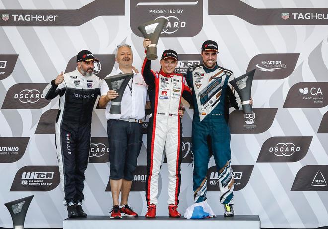 WTCR - Vila Real - Portugal 2018 - Carrera 2 - Yvan Muller - Mato Homola - Pepe Oriola en el Podio