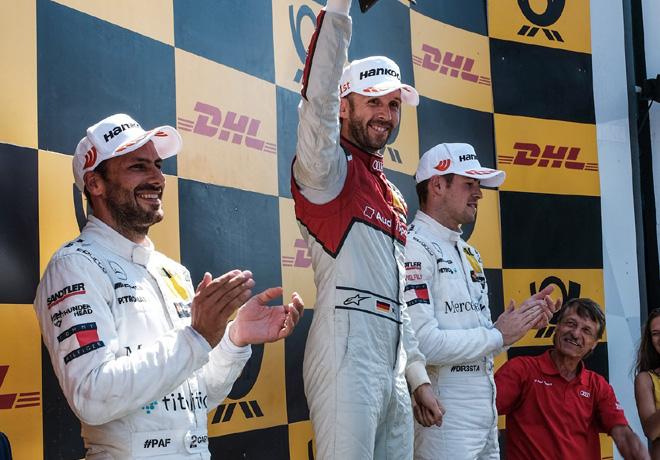 DTM - Zandvoort 2018 - Carrera 2 - Gary Paffett - Rene Rast - Paul di Resta en el Podio