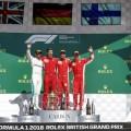 F1 - Gran Bretana 2018 - Carrera - Lewis Hamilton - Sebastian Vettel - Kimi Raikkoinen en el Podio