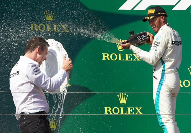 F1 - Hungria 2018 - Carrera - Lewis Hamilton en el Podio