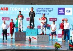 Formula E - Nueva York 2018 - Carrera 2 - Lucas di Grassi - Jean-Eric Vergne - Daniel Abt en el Podio