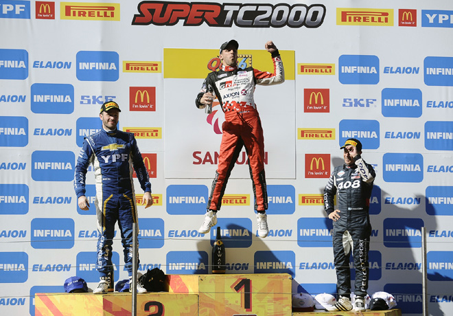 STC2000 - San Juan 2018 - Final - Agustin Canapino - Matias Rossi - Fabian Yannantuoni en el Podio
