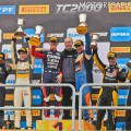 TC2000 - Buenos Aires 2018 - Carrera - Manuel Luque - Martin Chialvo - Andres Jakos - Emmanuel Caceres - Mariano Pernia - Leonel Pernia en el Podio