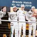 DTM - Brands Hatch 2018 - Carrera 2 - Gary Paffett - Paul Di Resta - Rene Rast en el Podio