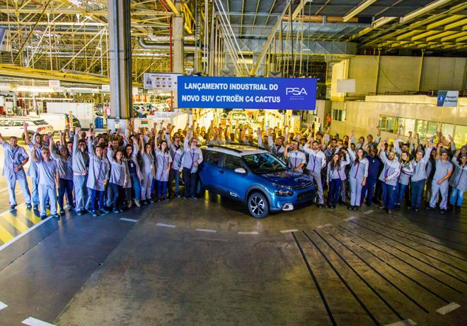 Groupe PSA inicia la produccion en serie del Nuevo SUV Citroen C4 Cactus en Porto Real