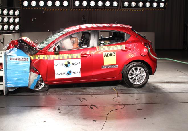 Latin NCAP - Mazda 2 - con 2 Airbags