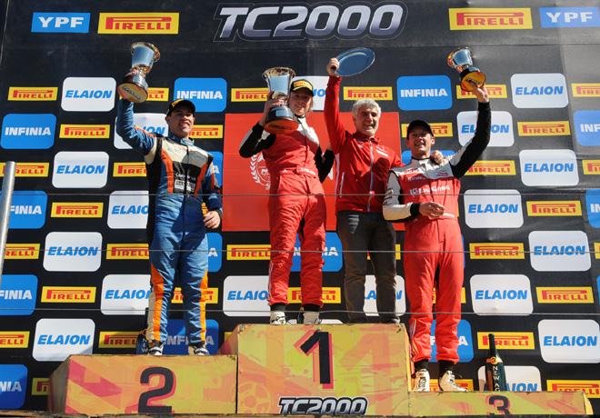TC2000 - San Luis 2018 - Carrera Final - Emmanuel Caceres - Hernan Palazzo - Marcelo Ciarrocchi en el Podio