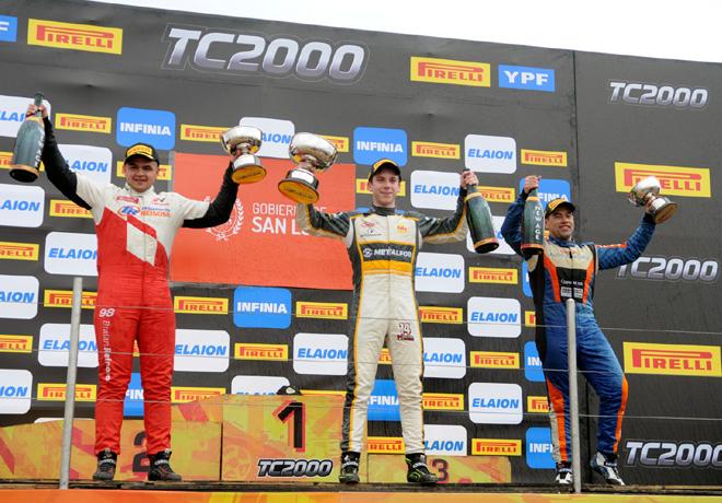 TC2000 - San Luis 2018 - Carrera Sprint - Braian Reinoso - Martin Chialvo - Emmanuel Caceres en el Podio
