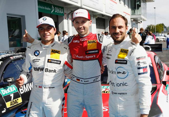 DTM - Nurburgring 2018 - Carrera 1 - Bruno Spengler - Rene Rast - Gary Paffett en el Podio