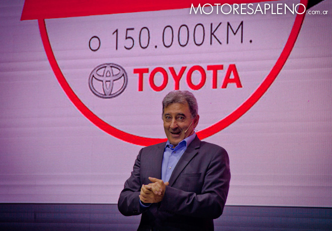 Daniel Herrero - Presidente de Toyota Argentina - anuncio que todos los vehiculos de la marca contaran con una garantia de 5 anios o 150 mil Km