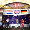 F1 - Singapur 2018 - Carrera - Max Verstappen - Lewis Hamilton - Sebastian Vettel en el Podio