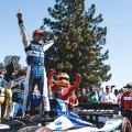 IndyCar - Portland 2018 - Carrera - Takuma Sato en el Podio