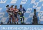MotoGP - Aragon 2018 - Andrea Dovizioso - Marc Marquez - Andrea Iannone en el Podio