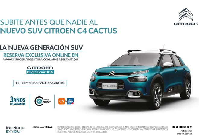 Preventa online del Nuevo SUV Citroen C4 Cactus