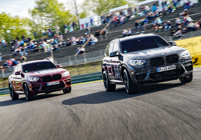 Primera presentacion oficial del BMW X3 M y del BMW X4 M en Nurburgring 2