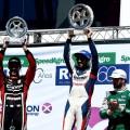 TC - La Pedrera 2018 - Matias Rossi - Julian Santero - Agustin Canapino en el Podio