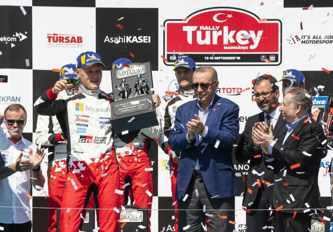 WRC - Turquia 2018 - Final - Ott Tanak en el Podio