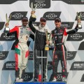 WTCR - Ningbo - China 2018 - Carrera 2 - Mehdi Bennani - Yvan Muller - Esteban Guerrieri en el Podio