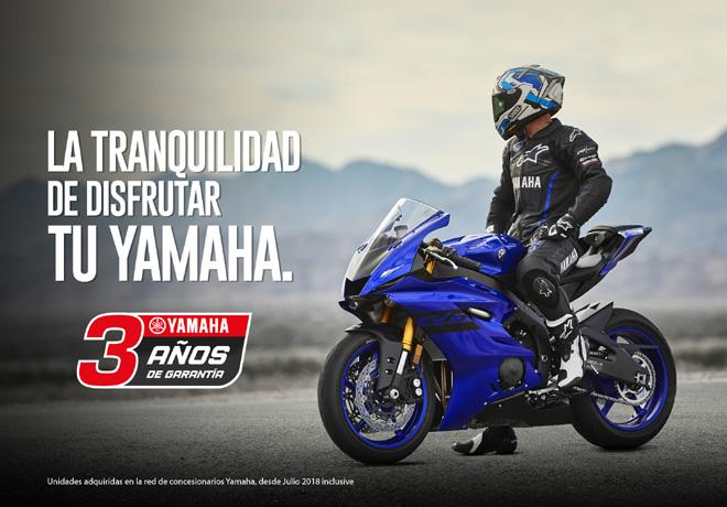 Yamaha certifica la calidad de sus productos con 3 anios de garantia