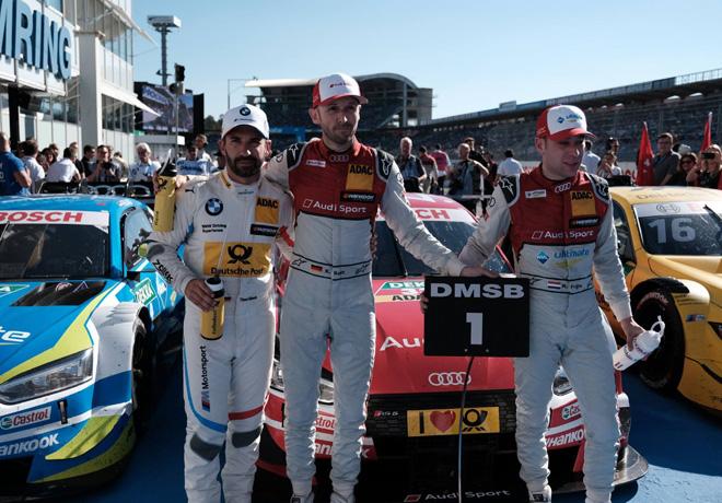 DTM - Hockenheim 2018 - Carrera 1 - Timo Glock - Rene Rast - Robin Frijns en el Podio