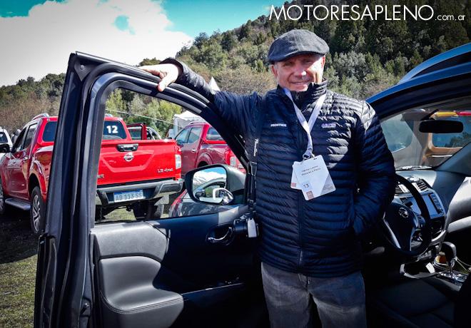 Hector O Losino en la presentacion de la nueva Nissan Frontier