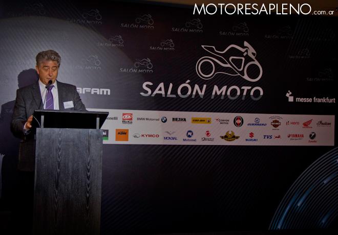 Lino Stefanuto - Presidente de CAFAM - en la presentacion del Salon Moto 2018