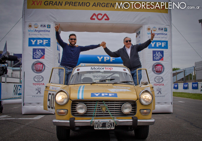 Llegada del XVI Gran Premio Argentino Historico