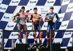 MotoGP - Chang - Tailandia 2018 - Andrea Dovizioso - Marc Marquez - Maverick Vinales en el Podio