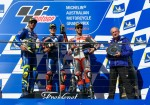 MotoGP - Phillip Island 2018 - Andrea Iannone - Maverick Vinales - Andrea Dovizioso en el Podio