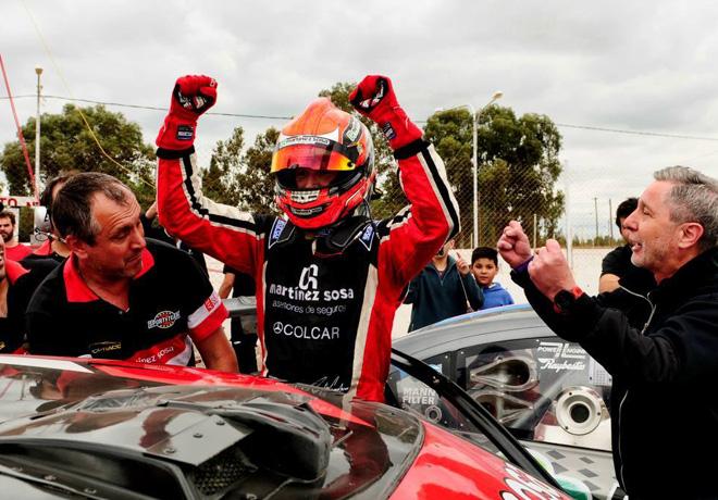 Top Race - San Martin - Mendoza 2018 - Carrera 2 - Agustin Canapino y el equipo Sportteam