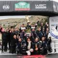 WRC - Gales 2018 - Final - Sebastien Ogier y el equipo M-Sport en el Podio
