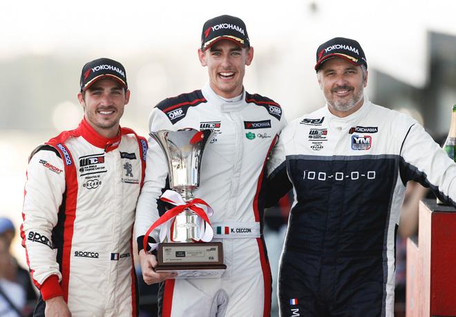 WTCR - Suzuka - Japon 2018 - Carrera 1 - Aurelien Comte - Kevin Ceccon - Yvan Muller en el Podio
