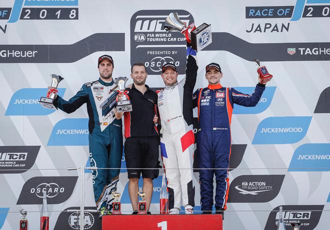 WTCR - Suzuka - Japon 2018 - Carrera 2 - Pepe Oriola - Robert Huff - Norbert Michelisz en el Podio