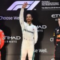 F1 - Abu Dhabi 2018 - Carrera - Sebastian Vettel - Lewis Hamilton - Max Verstappen en el Podio