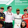 F1 - Brasil 2018 - Carrera - Max Verstappen - Lewis Hamilton - Kimi Raikkoinen en el Podio