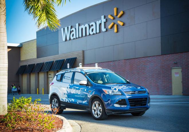 Ford - Walmart - Postmates colaboran en un servicio de delivery con autos autonomos 1